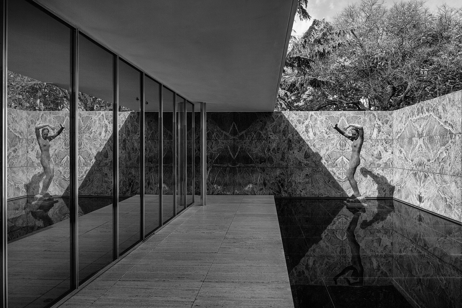 100 mies van der rohe barcelona the barcelona pavilion u0027s lost drawings for the first. Black Bedroom Furniture Sets. Home Design Ideas